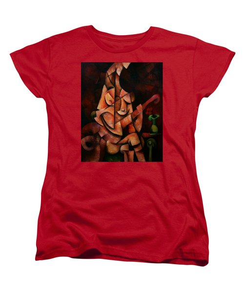 Girl With Guitar Women's T-Shirt (Standard Cut) by Kim Gauge