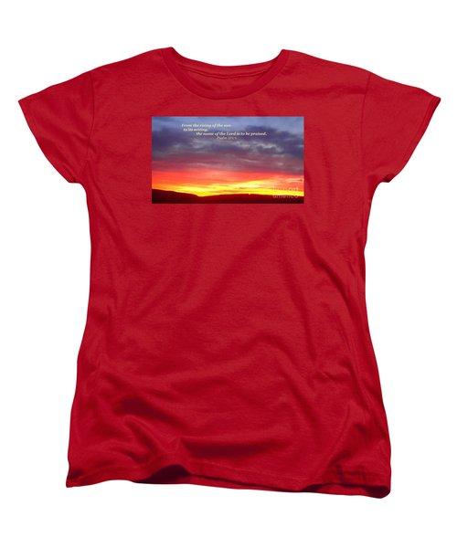 Glory And Praise  Women's T-Shirt (Standard Cut) by Christina Verdgeline