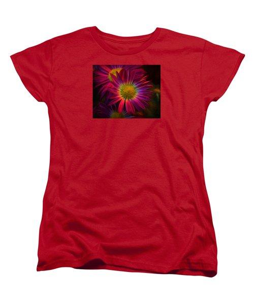 Glowing Eye Of Flower Women's T-Shirt (Standard Cut) by Lilia D