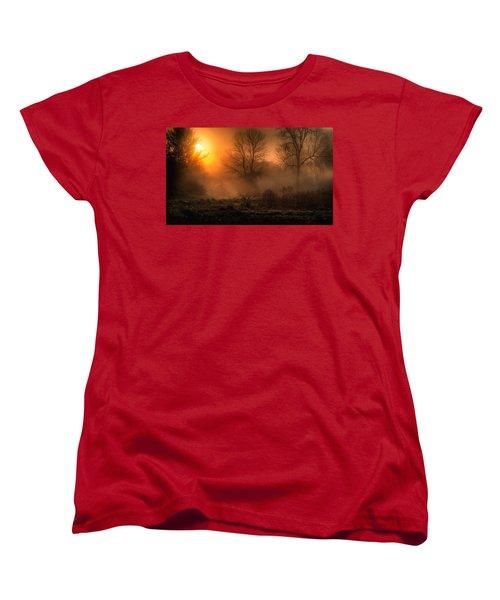 Glowing Sunrise Women's T-Shirt (Standard Cut) by Everet Regal