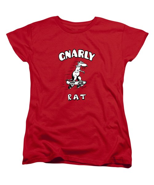 Gnarly Rat Women's T-Shirt (Standard Cut) by Kim Gauge