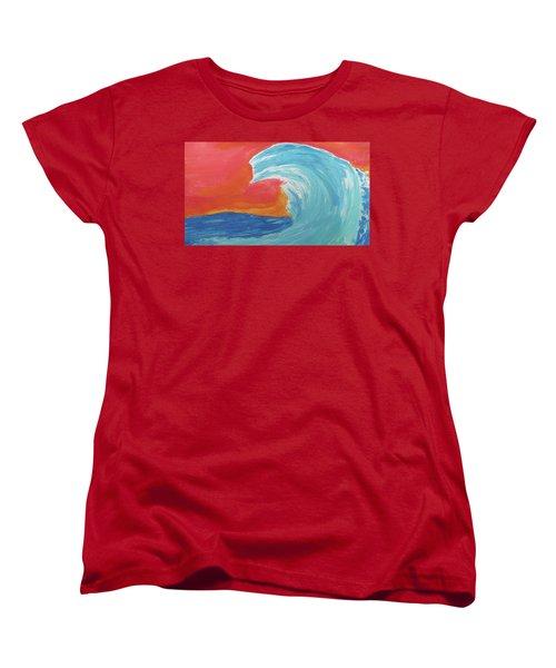 Gnarly Wave  Women's T-Shirt (Standard Cut) by Don Koester