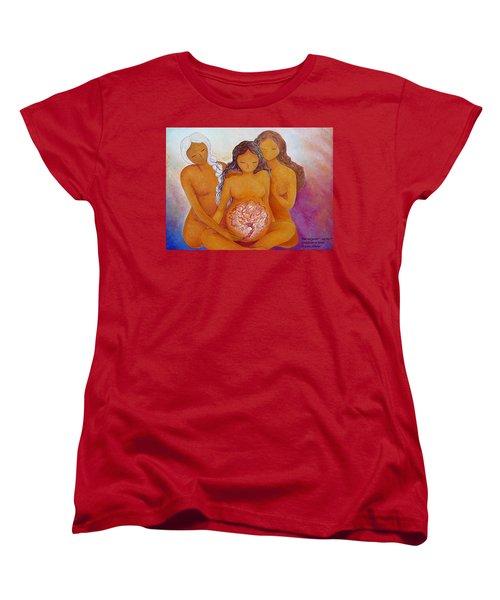 Goddesses In Birth  Women's T-Shirt (Standard Cut) by Gioia Albano