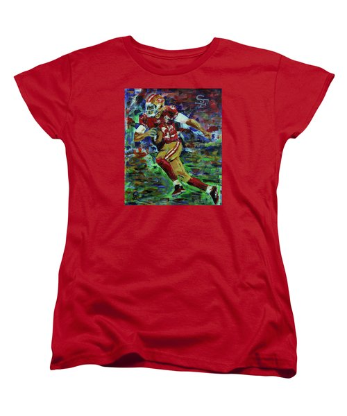 Gold Blooded 49ers Women's T-Shirt (Standard Cut) by Walter Fahmy