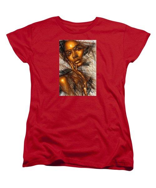 Gold Fingers Women's T-Shirt (Standard Cut) by Rafael Salazar
