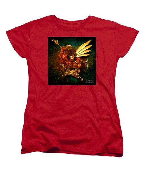 Women's T-Shirt (Standard Cut) featuring the painting  Gold Inkpot by Alexa Szlavics