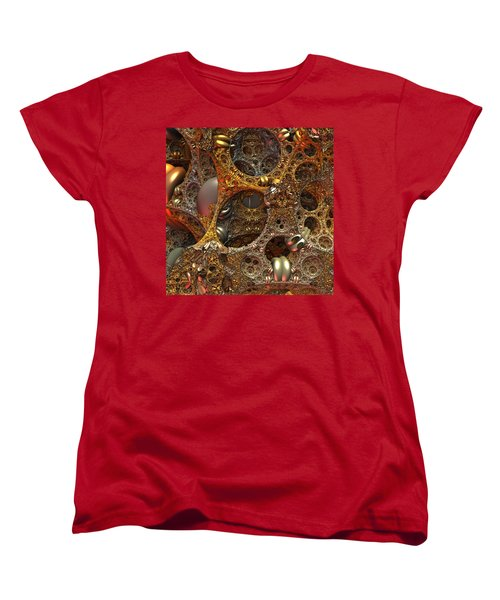 Women's T-Shirt (Standard Cut) featuring the digital art Gold Mine by Lyle Hatch