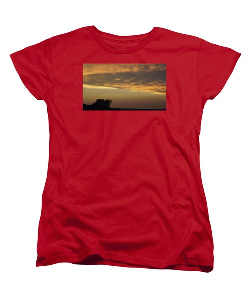 Gold Sky Over Lake Of The Ozarks Women's T-Shirt (Standard Cut) by Don Koester