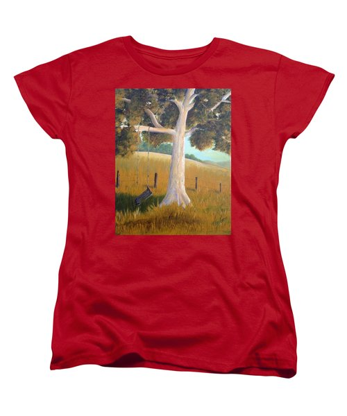 The Shadows Of Childhood Women's T-Shirt (Standard Cut) by T Fry-Green