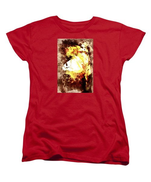 Women's T-Shirt (Standard Cut) featuring the digital art Golden Butterfly by Andrea Barbieri