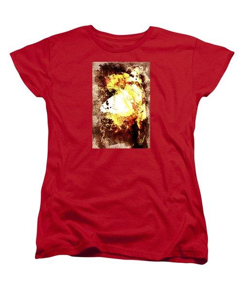 Golden Butterfly Women's T-Shirt (Standard Cut) by Andrea Barbieri