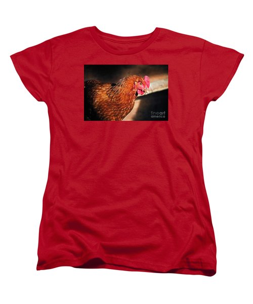 Women's T-Shirt (Standard Cut) featuring the photograph Golden Comet by Mary Machare