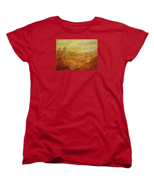 Golden Dawn Women's T-Shirt (Standard Cut) by Ellen Levinson