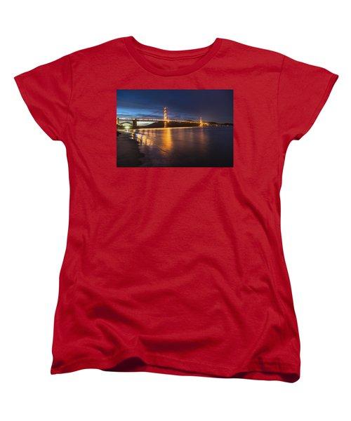 Golden Gate Blue Hour Women's T-Shirt (Standard Cut) by John McGraw