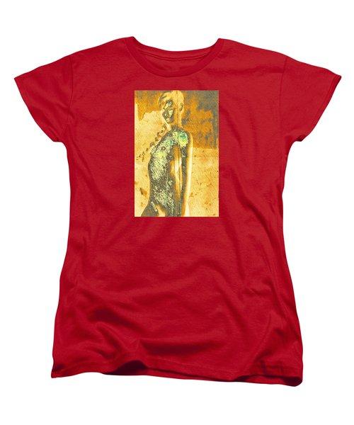 Golden Graffiti Women's T-Shirt (Standard Cut) by Andrea Barbieri