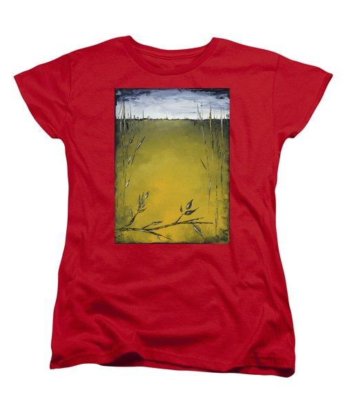 Golden Greens Women's T-Shirt (Standard Cut) by Carolyn Doe