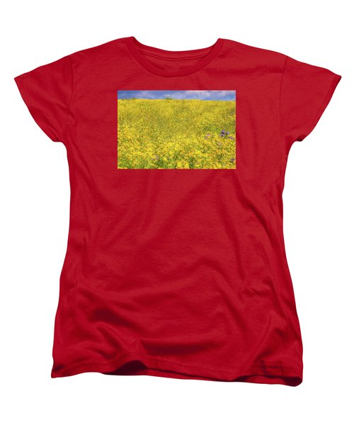 Women's T-Shirt (Standard Cut) featuring the photograph Golden Hillside by Marc Crumpler
