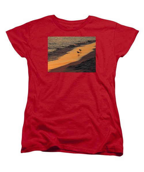 Golden Light At Sunset Women's T-Shirt (Standard Cut) by Teresa Schomig
