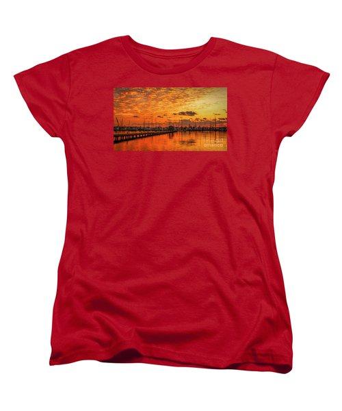 Golden Orange Sunrise Women's T-Shirt (Standard Cut) by Tom Claud