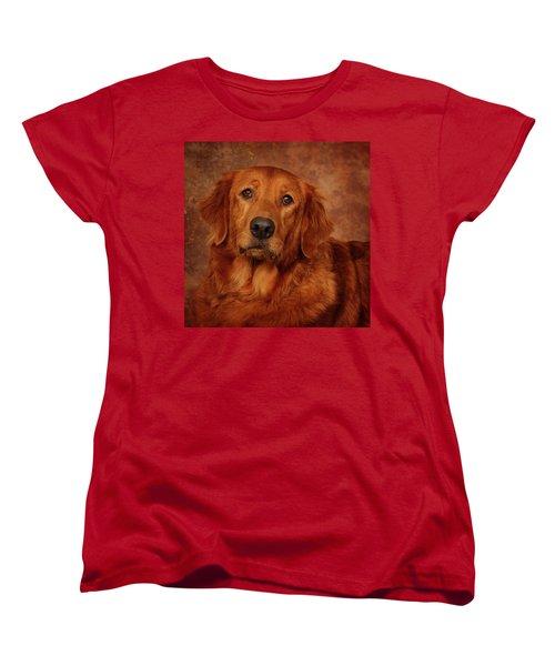 Golden Retriever Women's T-Shirt (Standard Cut) by Greg Mimbs