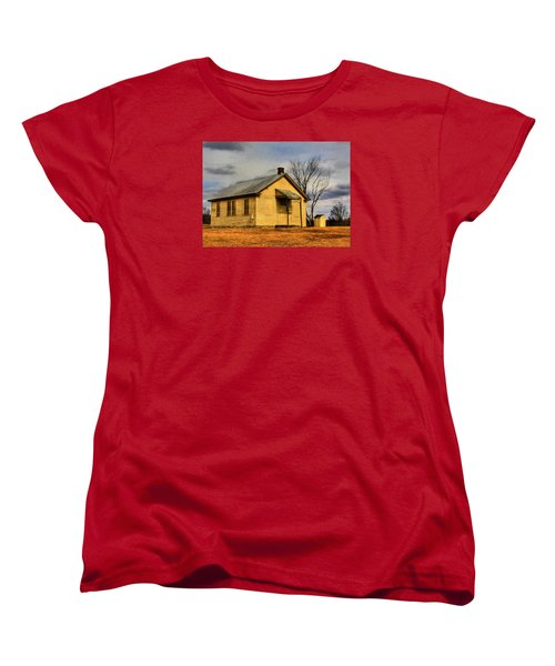Women's T-Shirt (Standard Cut) featuring the digital art Golden Rule Days by Sharon Batdorf