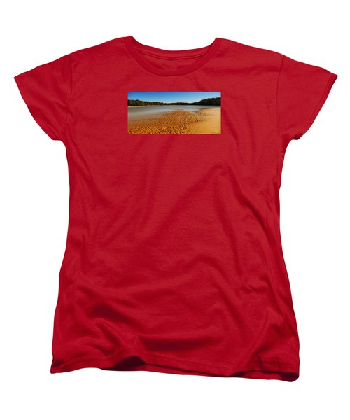 Women's T-Shirt (Standard Cut) featuring the photograph Golden Sand 01 by Kevin Chippindall