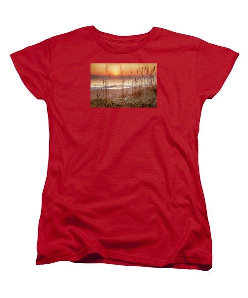 Golden Sunrise Women's T-Shirt (Standard Cut) by David Cote
