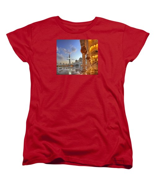 Golden Temple Women's T-Shirt (Standard Cut) by John Swartz