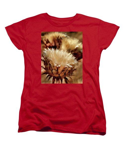 Women's T-Shirt (Standard Cut) featuring the digital art Golden Thistle II by Bill Gallagher