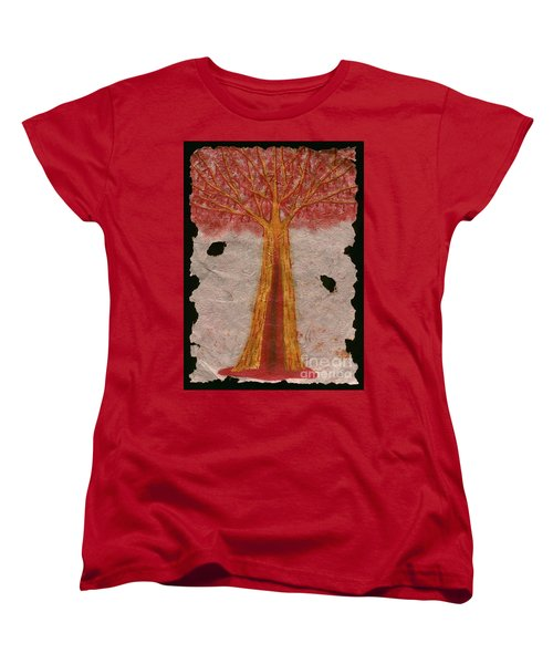 Golden Trees Crying Tears Of Blood Women's T-Shirt (Standard Cut) by Talisa Hartley