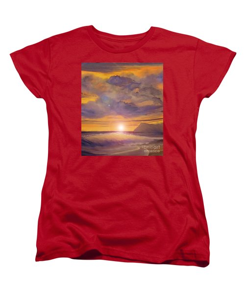 Golden Wave Women's T-Shirt (Standard Cut) by Holly Martinson