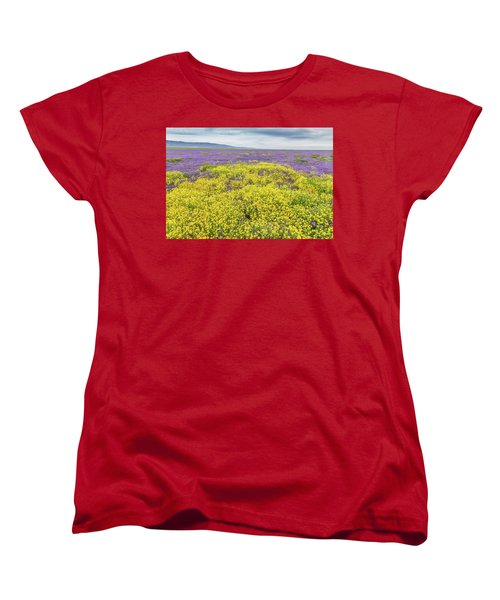 Women's T-Shirt (Standard Cut) featuring the photograph Goldfield And Phacelia by Marc Crumpler