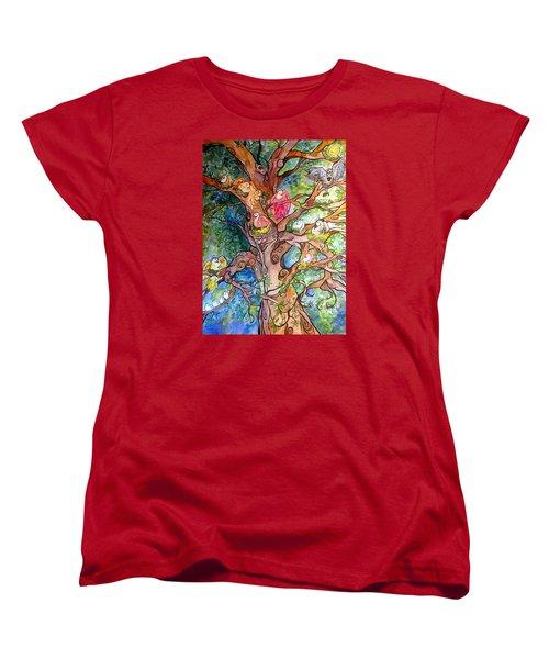 Good Neighbors Women's T-Shirt (Standard Cut) by Claudia Cole Meek