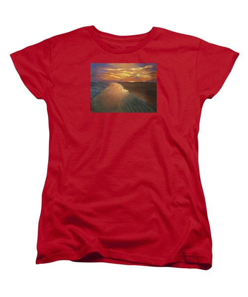 Women's T-Shirt (Standard Cut) featuring the painting Good Night by Alla Parsons