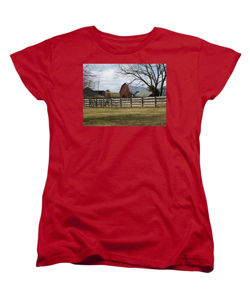 Good Old Barn Women's T-Shirt (Standard Cut) by Donald C Morgan