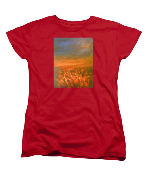 Women's T-Shirt (Standard Cut) featuring the painting Goodbye by Jane See