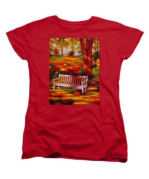 Women's T-Shirt (Standard Cut) featuring the painting The Good Days by Emery Franklin