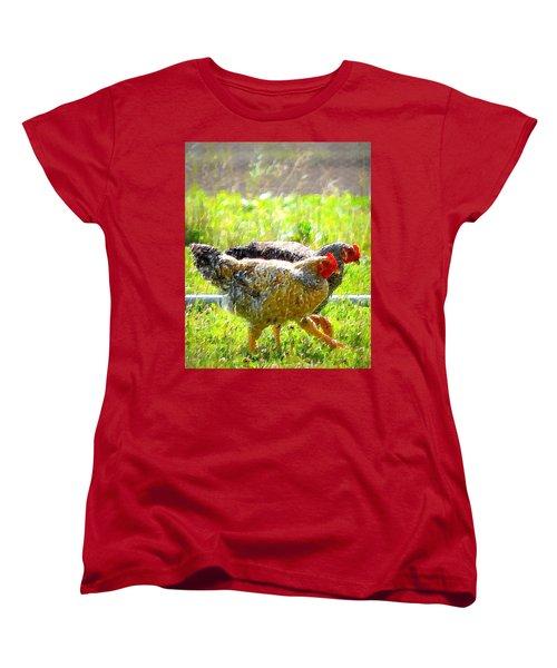 Women's T-Shirt (Standard Cut) featuring the photograph Gossip Girls by Barbara Dudley