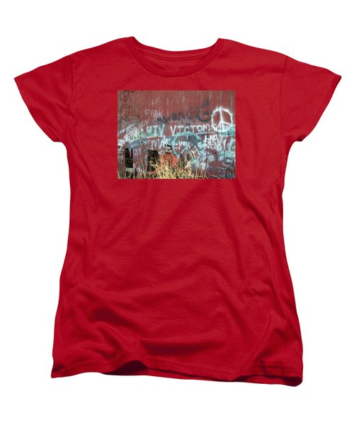 Women's T-Shirt (Standard Cut) featuring the photograph Graffiti by Cynthia Lassiter