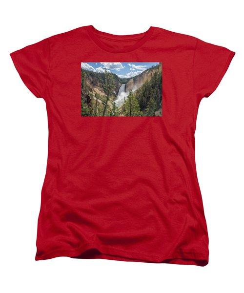 Grand Canyon Of Yellowstone Women's T-Shirt (Standard Cut) by Alpha Wanderlust
