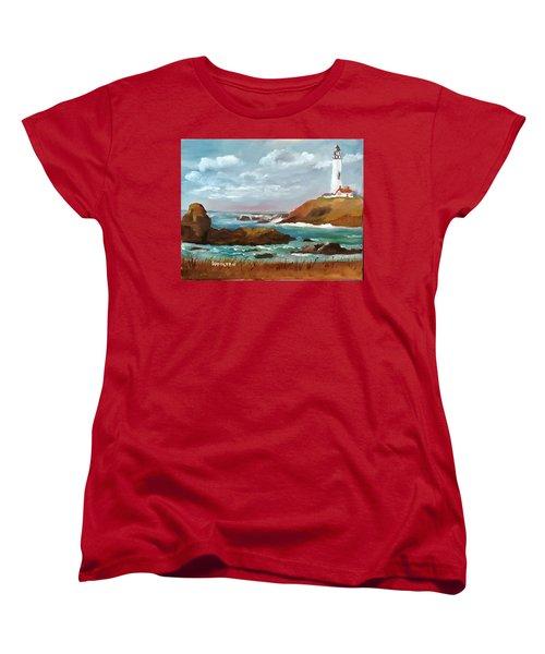 Grand Lighthouse Women's T-Shirt (Standard Cut) by Larry Hamilton