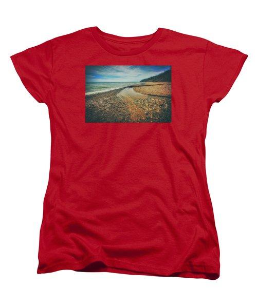 Grant Park - Lake Michigan Beach Women's T-Shirt (Standard Cut) by Jennifer Rondinelli Reilly - Fine Art Photography