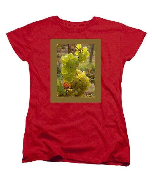 Grape Spiral Women's T-Shirt (Standard Cut) by Patricia Overmoyer
