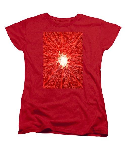 Grapefruit Close-up Women's T-Shirt (Standard Cut) by Johan Swanepoel