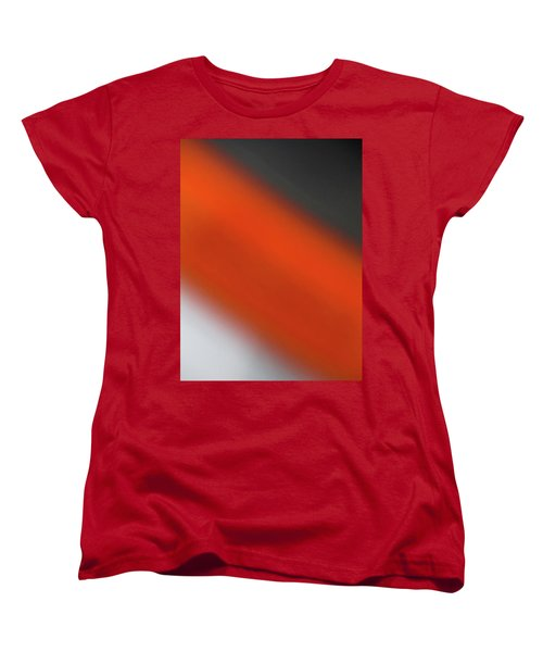 Women's T-Shirt (Standard Cut) featuring the photograph Gray Orange Grey by CML Brown