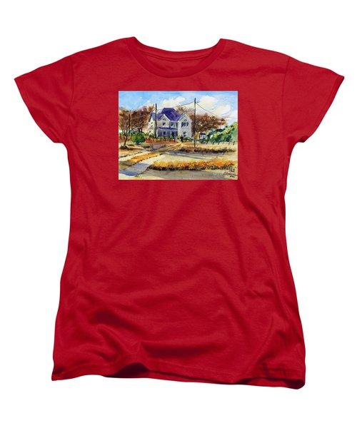 Grayson County Farmhouse Women's T-Shirt (Standard Cut) by Ron Stephens