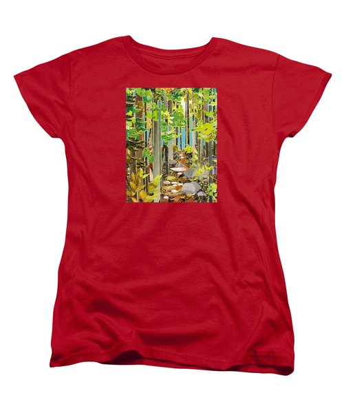 Great Maine Woods Women's T-Shirt (Standard Cut) by Robin Birrell