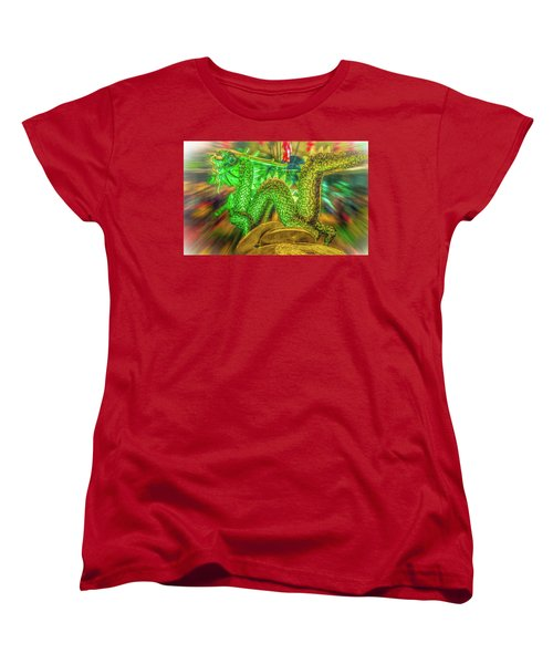 Green Dragon Women's T-Shirt (Standard Cut) by Mark Dunton