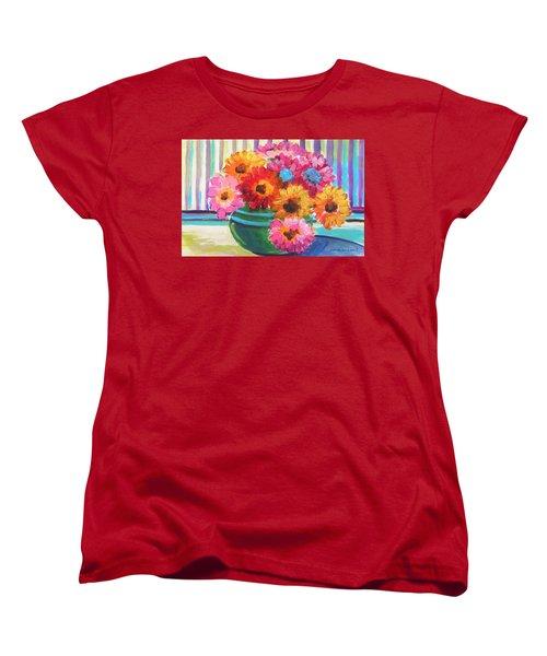 Green Glass Bowl Women's T-Shirt (Standard Cut) by John Williams