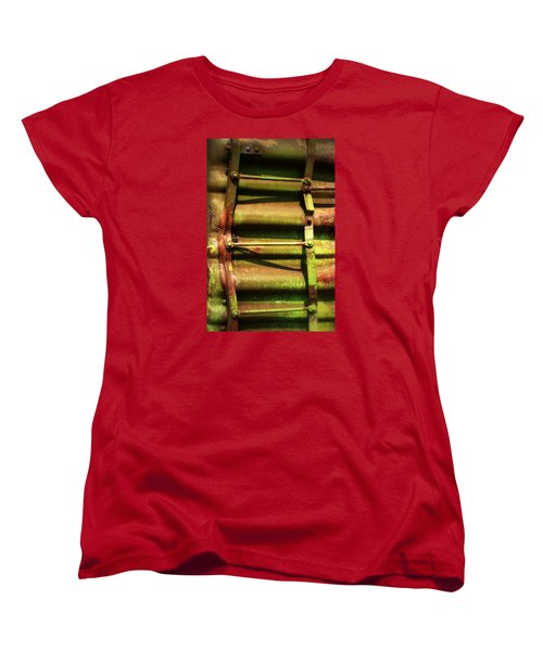 Women's T-Shirt (Standard Cut) featuring the photograph Green Ladder by Newel Hunter